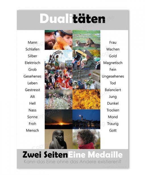 Plakat Dualitäten - Zwei Seiten, eine Medaille