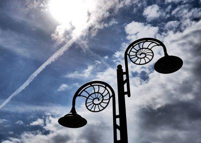 Fossilienlampe in Lyme Regis
